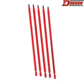 "TASK #2 Robertson® 6"" Red Two-Piece Screwdriver Bit - Bulk"
